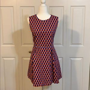 Kate Spade SATURDAY pleated geometric dress